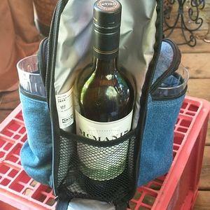 Ikea Denim Picnic Wine Satchel